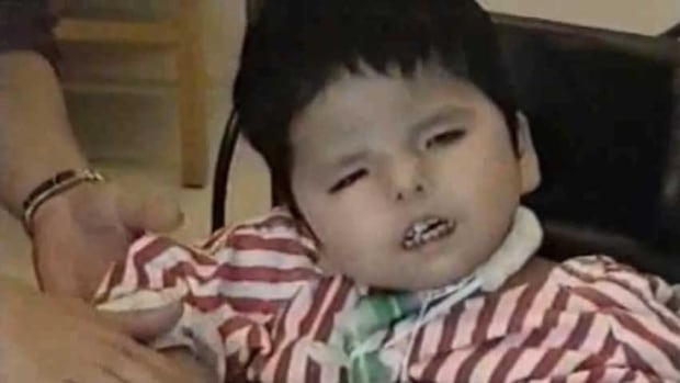 Jordan Anderson, seen here in a 2003 image from video, died in 2005 at the age of four while the federal and provincial governments argued over who should pay for his care.