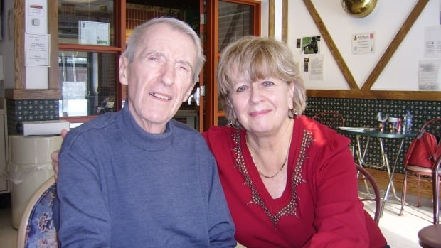 Judy Southon with her husband, Vic. Southon, 67, fell deep into debt after Vic developed dementia and could no longer work. He died in 2011.