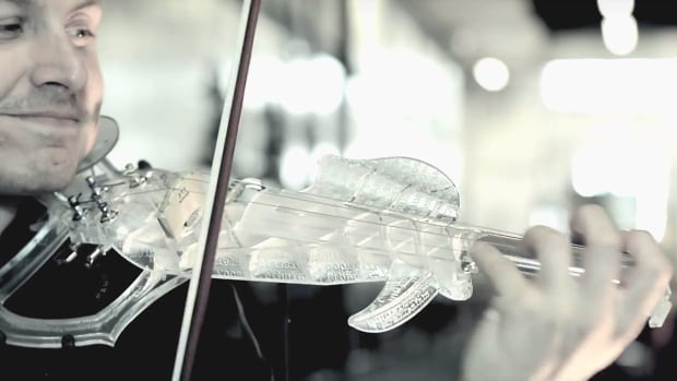 French violinist Laurent Bernadac spent years designing 3Dvarius, billed as the first playable, 3D-printed violin. Its streamlined design was inspired by the classical world's much-coveted Stradivarius violins.