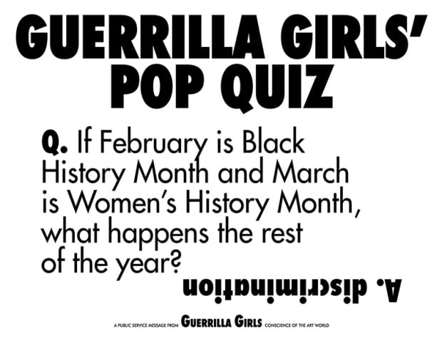 Guerrilla Girls on 30 years of sticking it to the art