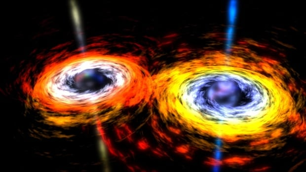Gravitational waves are ripples in space-time that Albert Einstein's theory of general relatively predicted would be produced by massive phenomena such as black holes colliding.