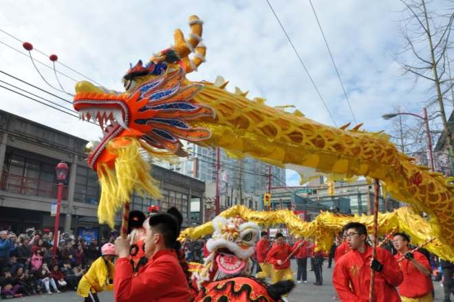 Vancouver's Chinese New Year parade is famous for its lion and dragon dances. (Chinese Benevolent Association of Vancouver)