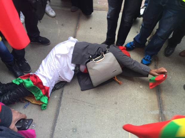Ethiopian protester