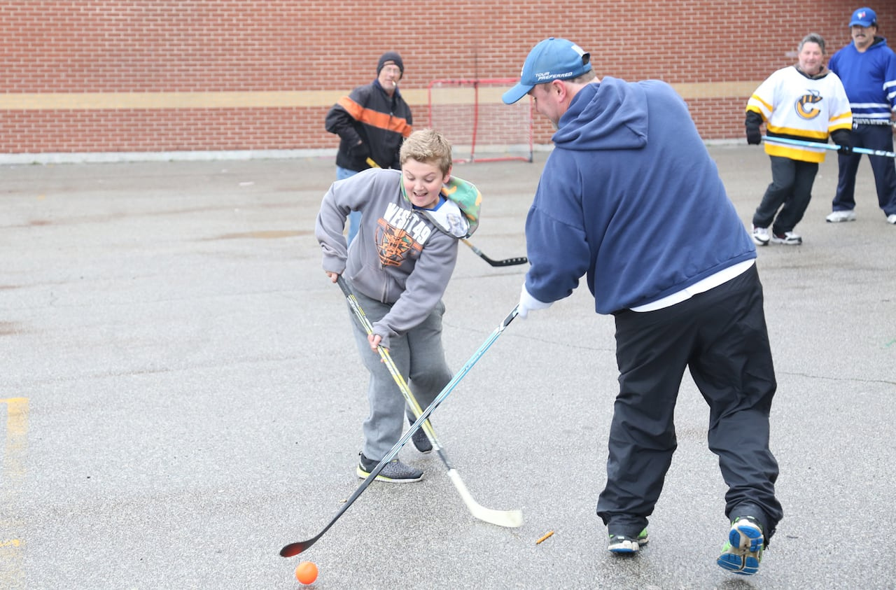 hight resolution of hamilton street to be transformed into permanent hockey rink