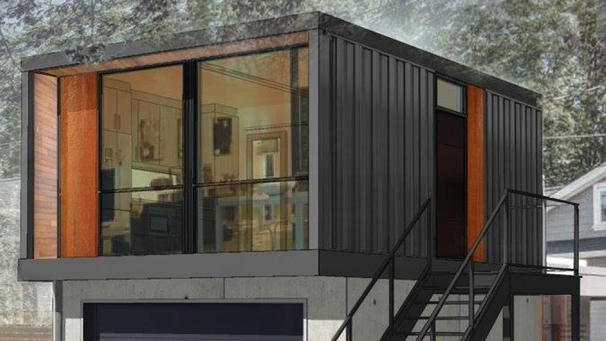 Shipping container homes move into Edmontons back alleys