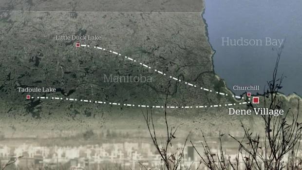 Map for Sayisi Dene story