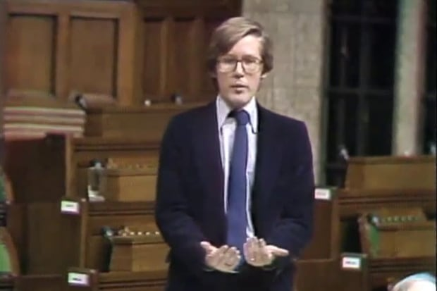 Bob Rae in the House of Commons in 1980