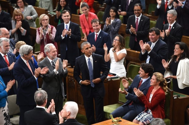 Obama in Parliament June 29 2016 standing ovation