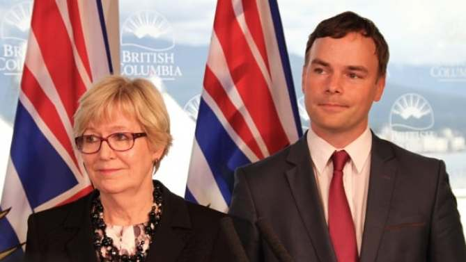 Attorney General and Minister of Justice Suzanne Anton was joined by Vancouver-West End NDP MLA Spencer Chandra Herbert to announce the government plans to introduce legislation adding protection for gender identity and expression in the B.C. Human Rights Code.