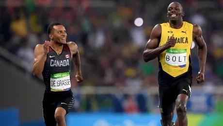 Andre-De-Grasse-Usain-Bolt-Together-Again