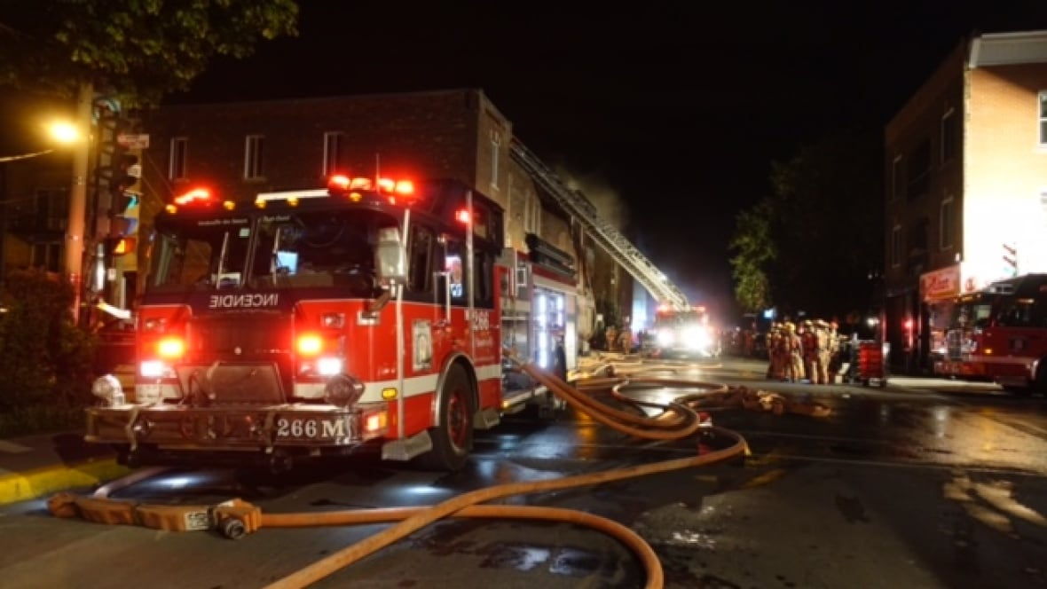 Verdun Fire Damages 6 Apartments Montreal CBC News