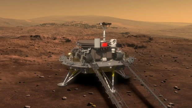 According to Chinese state media, China plans to launch an orbiter that will deploy a lander and rover onto the surface of Mars in 2020. (The Associated Press)