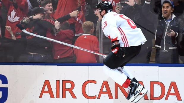 Canada defeated Europe 2-1 after scoring twice in the final minutes of the third period to win the World Cup of Hockey.