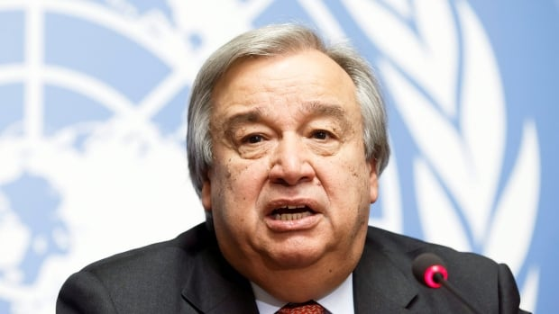 Portugal's Antonio Guterres speaks to the media during a news conference at the UN's European headquarters in Geneva, Switzerland in December 2015.