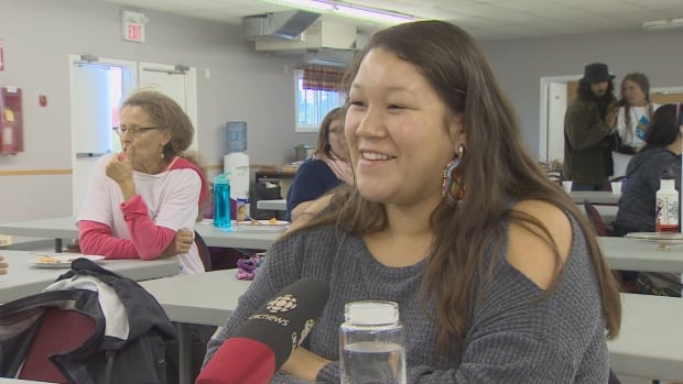 Rosalie Labillois, 19, is taking part in the Mi'kmaki Water Symposium in Millbrook First Nation, N.S.