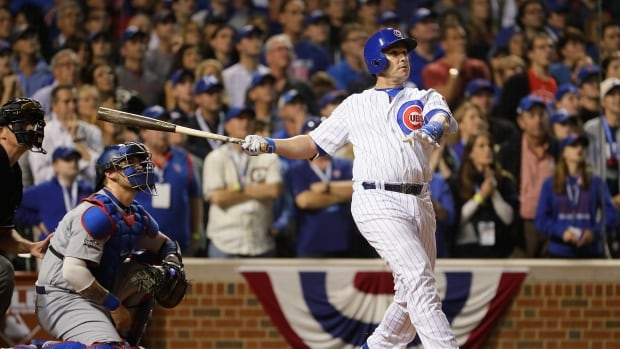 Miguel Montero snapped an eighth-inning tie with the third pinch-hit grand slam in post-season history, and the Chicago Cubs beat the Los Angeles Dodgers 8-4 in their NL Championship Series opener Saturday night.