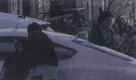 Women leaving in Bentley (restricted)