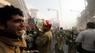 Iran says 30 Tehran firefighters killed as burning highrise collapses