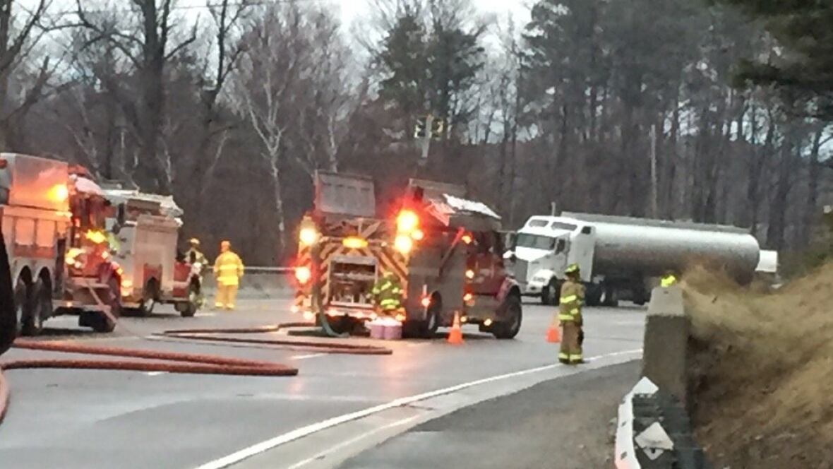 Tanker Truck Spills 23,000 Litres Of Fuel Near Caledon