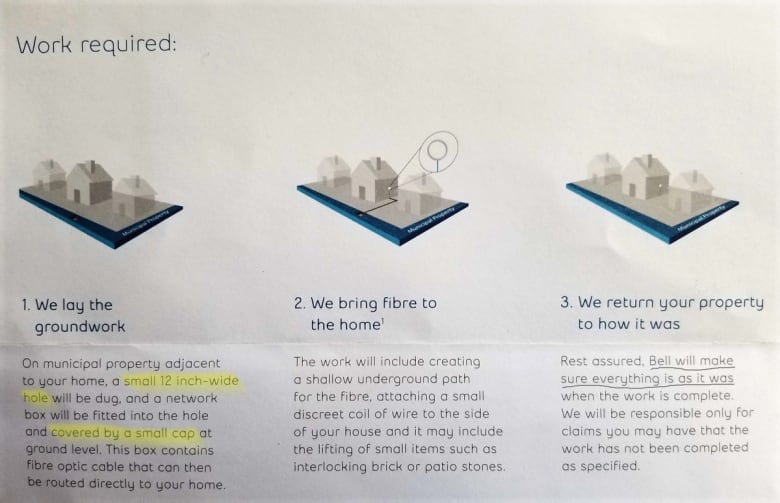 bell fibe tv wiring diagram inverter home internet cable installation turns into nightmare for residents a pamphlet sent out to outlines the work that would be done on properties in area steve stinson twitter