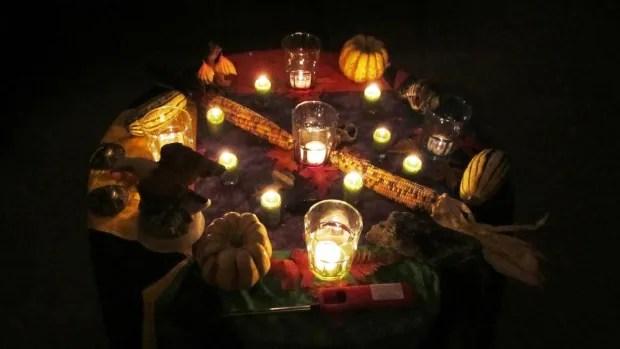 Radio Wallpaper Hd Wiccan Samhain Ritual Table Jpg