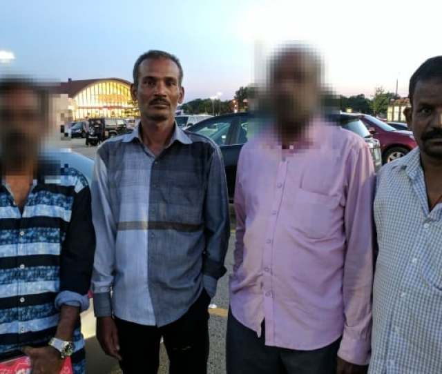 Suthakar Masilamani Second From The Left And Sekar Kurusamy Far Right Complained To Cbc Toronto About Their Treatment At The Hands Of The Sridurka Hindu