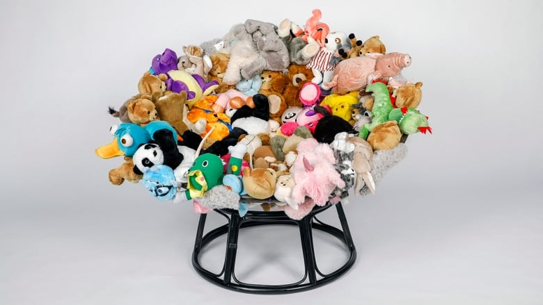 stuffed animal chair patchwork furniture is your garage full of old chairs upcycle them into something fun with this rattan that seemed unsalvageable instead reupholstering a new cushion for it he rounded up bunch animals