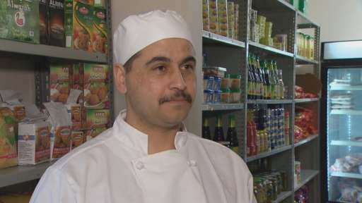 Khaled Al Hilal opened Al-Hilal Meat Shop in Halifax in August 2017. (David Laughlin/CBC)
