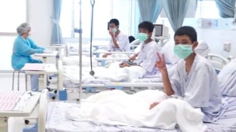 Thailand boys rescued from cave in hospital