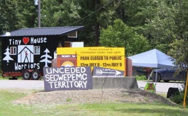 Secwepmec First Nation Tiny House Warriors Occupy North