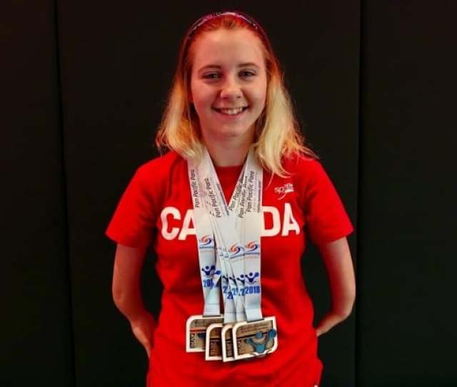 Moncton Swimmer Danielle Dorris Shows Off The Four Medals She Won At The Pan Pacific Para Swimming Championships In Cairns Australia