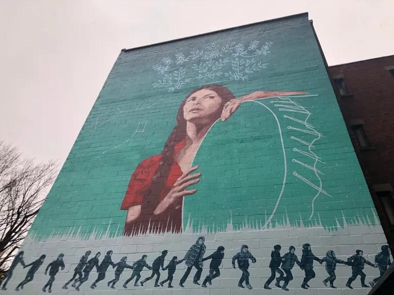 Montreal mural honours Abenaki filmmaker Alanis Obomsawin alanis obomsawin mural