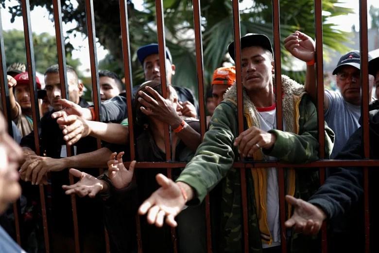 Tijuana protesters blast 'invasion' of Mexico by caravan of U.S.-bound migrants usa immigration caravan