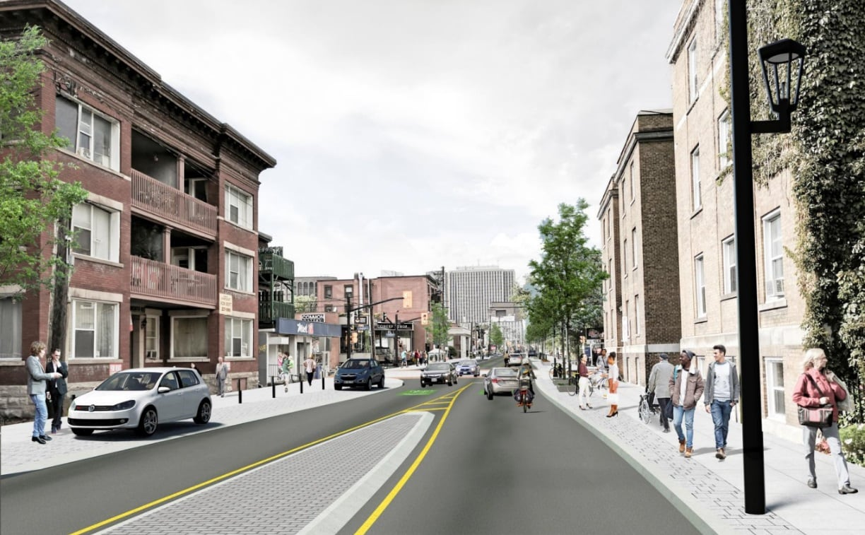 hight resolution of slower livelier bike friendly latest plans for elgin street transformation revealed cbc news
