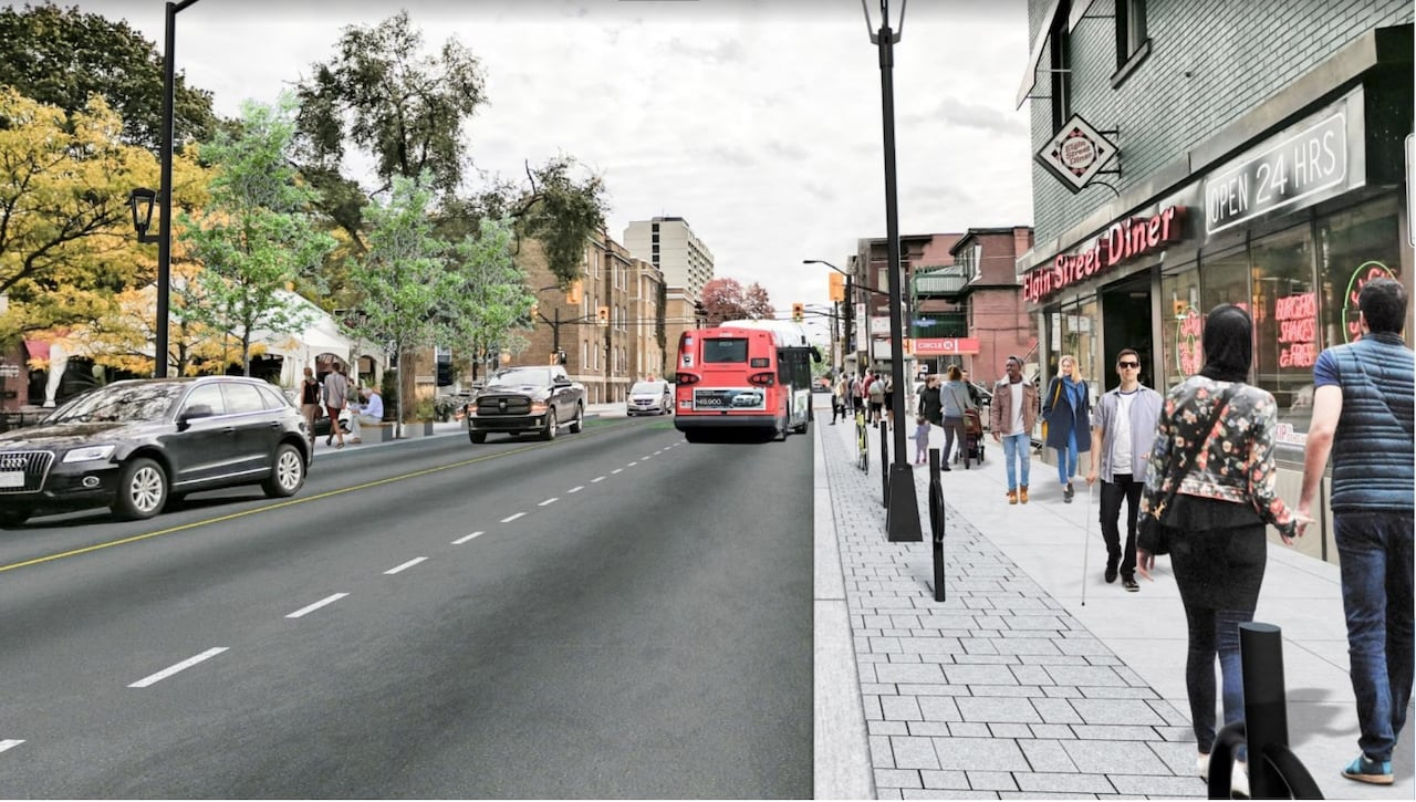 hight resolution of slower livelier bike friendly latest plans for elgin street transformation revealed