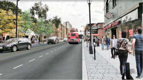 small resolution of slower livelier bike friendly latest plans for elgin street transformation revealed