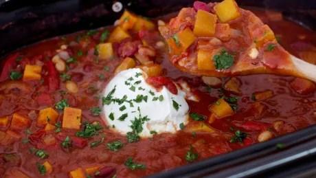 Food Deadline Slow Cooker Vegetarian Chili