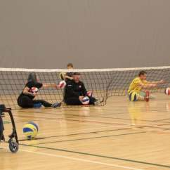 Wheelchair Volleyball Chair And Design Sitting Helps Active Amputees Get Back In The Game Cbc News Sunday S Event Was A Chance For Everyone Regardless Of Ability To On Level Playing Field Try Something New Aviva Jacob