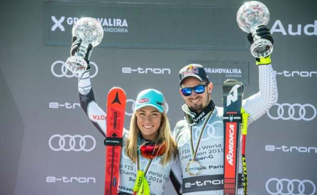 Shiffrin And Paris Celebrate Their Respective Crystal