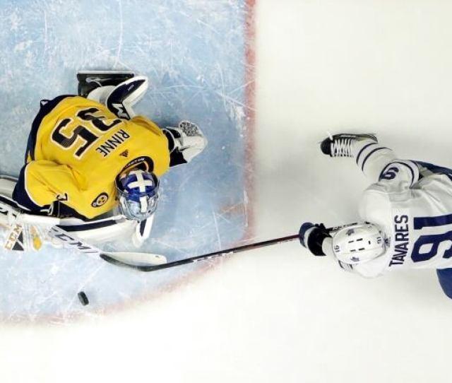 Nashvilles Pekka Rinne Stops Torontos John Tavares In The Predators 3 0 Win On Tuesday Mark Humphrey Associated Press