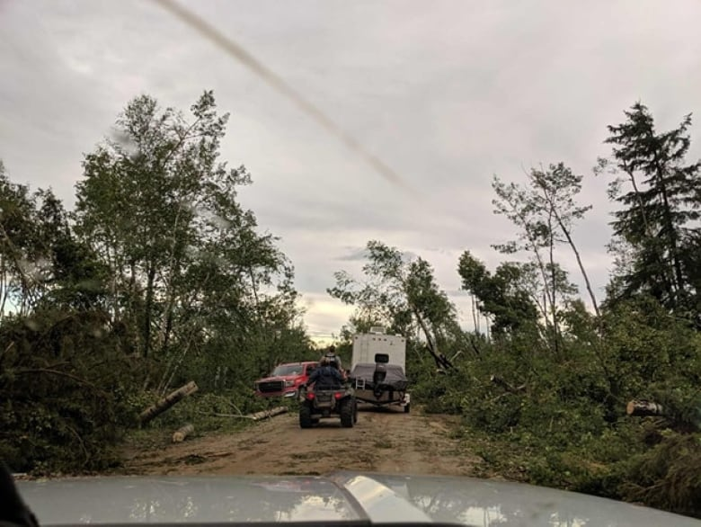 genia aasen damage - 'That campground, it's gone': Tornado hits Meadow Lake Provincial Park in Sask.