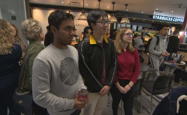Students And Staff Gathered The The University Of Manitoba