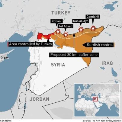 turkish invasion map