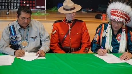 Chief Jonathan Frencheater/Sunchild Cst. Daniel Davis Chief Douglas Beaverbones/O'Chiese