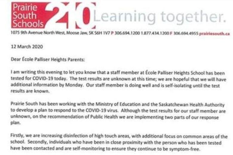 Saskatchewan education system prepping for COVID-19 | CBC News