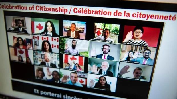 Virtual Canada Day citizenship ceremony celebrates nurses, care workers | CBC News