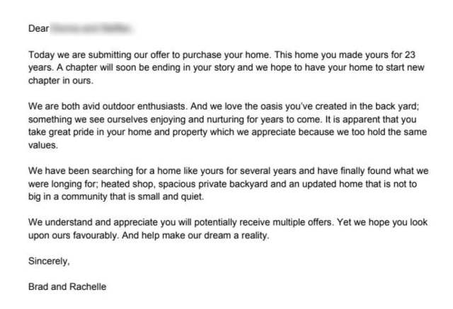 Buying a home? Consider writing a heartfelt letter to the seller