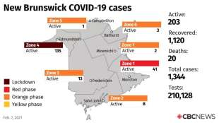 NB COVID summary: 7 new cases in active total decline on Sunday