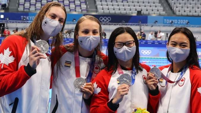 Penny Oleksiak powers Canadian women to 1st medal of Tokyo Olympics   CBC  Sports