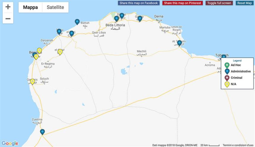 Gdp Mappa Libia Est